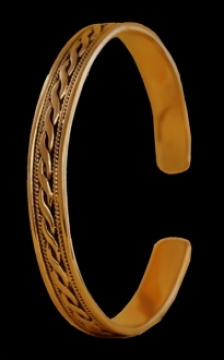 Armreif Celtic Ornamentik, Bronze